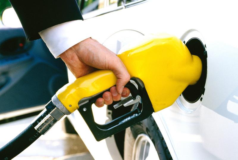 No aparece sobre la gasolina después del gas